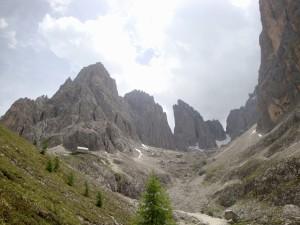Langkofelhütte Aufstieg